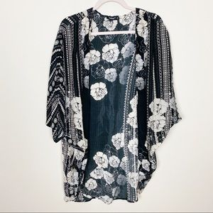 Anthro TOLANI floral silk kimono